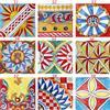CERAMICHE CALTAGIRONE Piastrelle Ceramica Siciliana 20 X 20